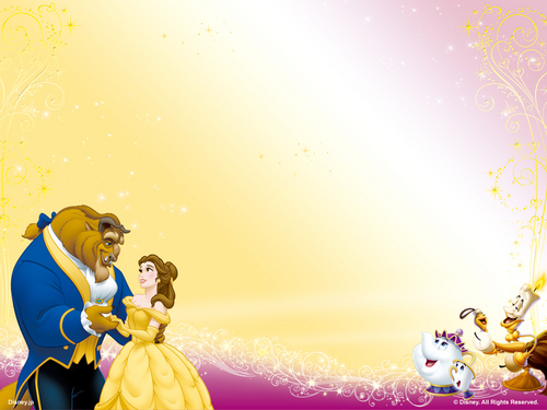 Disney Princess karatasi la kupamba ukuta entitled Beauty and the Beast