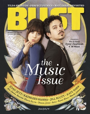 Bust Magazine June Issue - She and Him