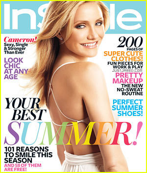 "Cameron Diaz in magazine ""InStyle"""