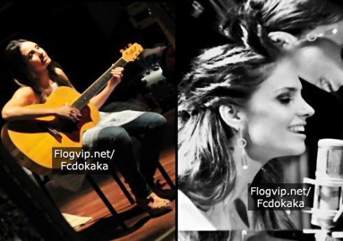 Carol playing guitar