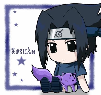 Sasuke Ichiwa fond d'écran entitled chibi Sasuke Uchiha