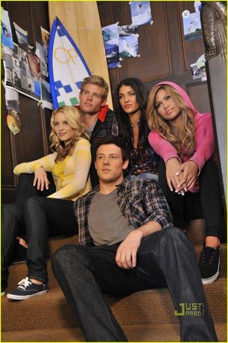 Dianna Agron and Cory Monteith:New Op Campaign pics