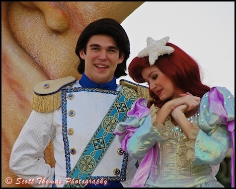 Disneys Eric and Ariel at ডিজনি World