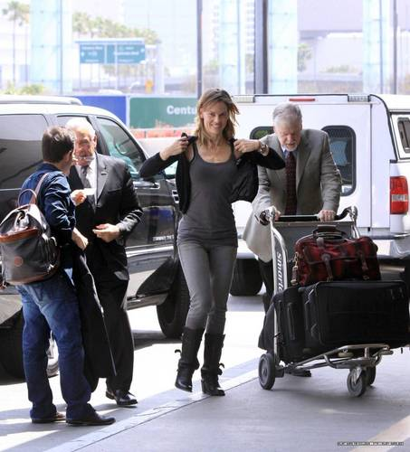 Hilary and John Campisi depart LAX Airport 6/10/10