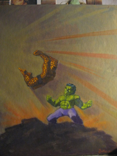Hulk Thing Fight