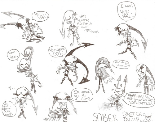 Invader Saber Sketch Dump of Doom!