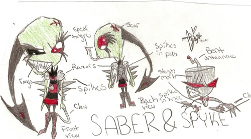 Invader Zim FanCharacters wallpaper called Invader Saber and Spyke