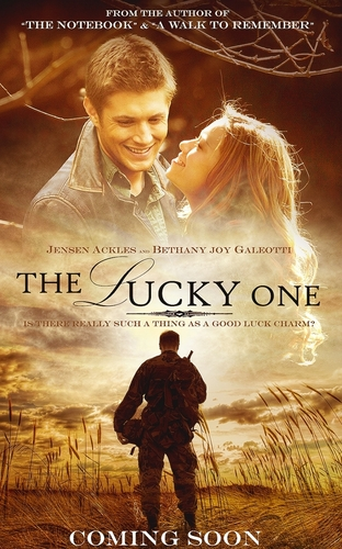 Jensen Ackles and Bethany Joy Galeotti in The Lucky One