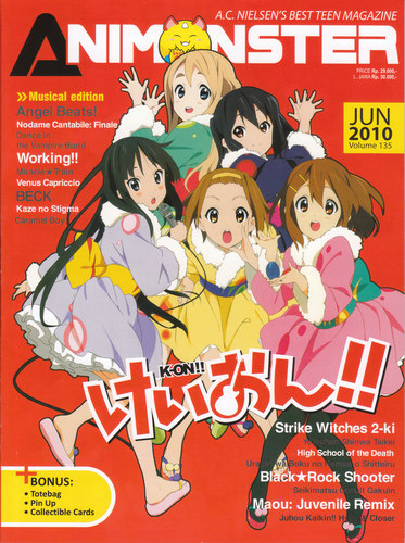 K-On!: Animonster Cover (June 2010,no 135)
