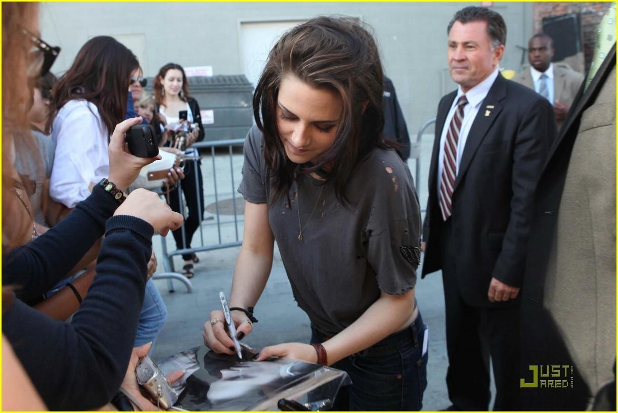 Kristen & Robert Arriving @ Jimmy Kimmel Taping