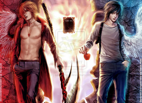 Death Note achtergrond titled Light X L