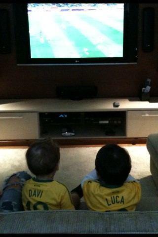 Luca watchin dad