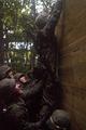 Marine Climbs Wall