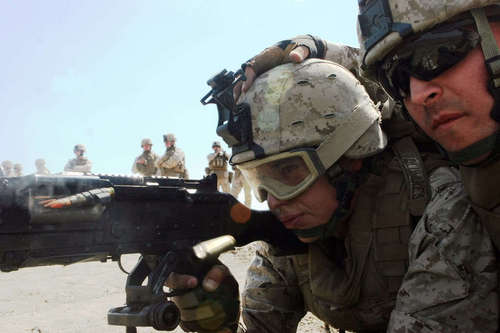 Marine Fires M240 Machinegun