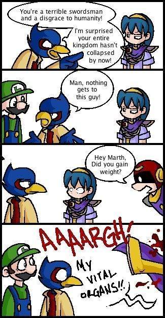Meta Knight And Kirby Comics Marth from Fire Emblem...