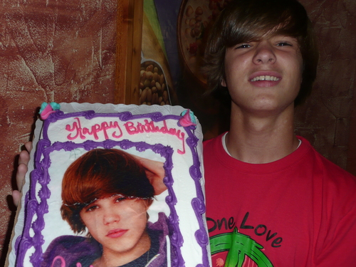 My son who looks just like Justin Bieber