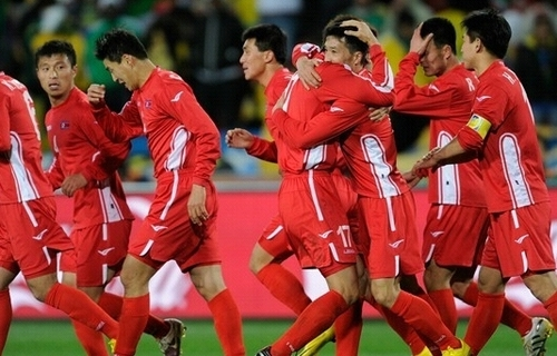 North Korea scores