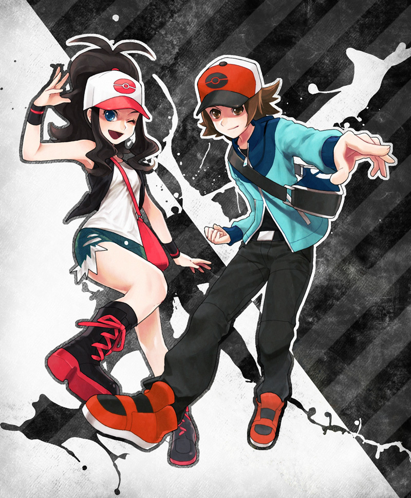 pokemon black and white girl trainer. Pokemon Black and White