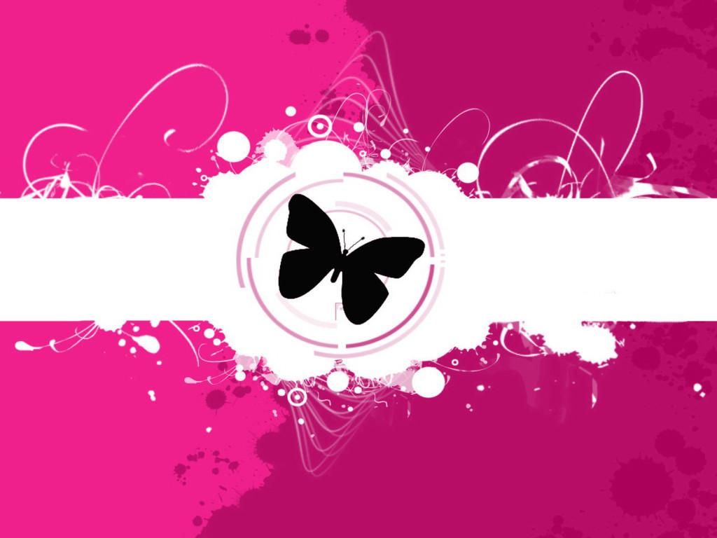 Butterflies pretty pink