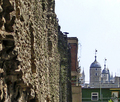 ROMAN WALL AND TOWER OF LONDON