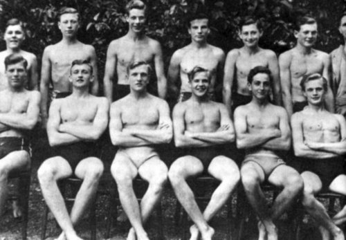 School swimming team
