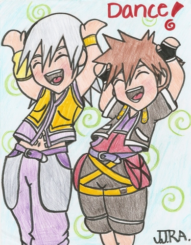 Sora and Riku Caramelldansen!