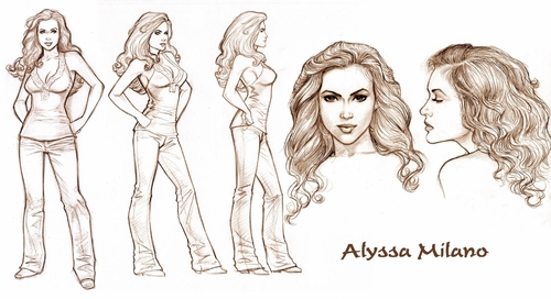Test drawing of Alyssa (Dave Hoover)