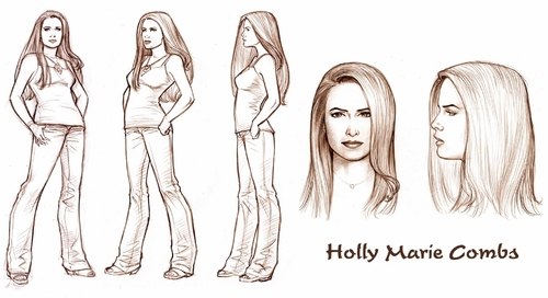 Test drawing of holly (Dave Hoover)