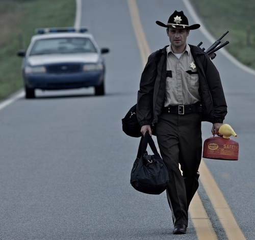 The Walking Dead - Promotional foto of Andrew lincoln as Rick Grimes