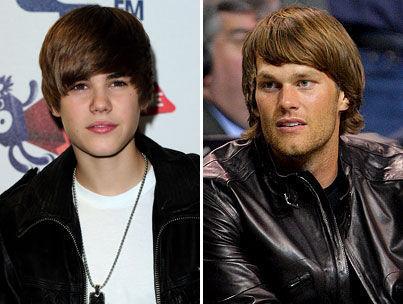 Tom Brady Sports a Justin Bieber Hairstyle