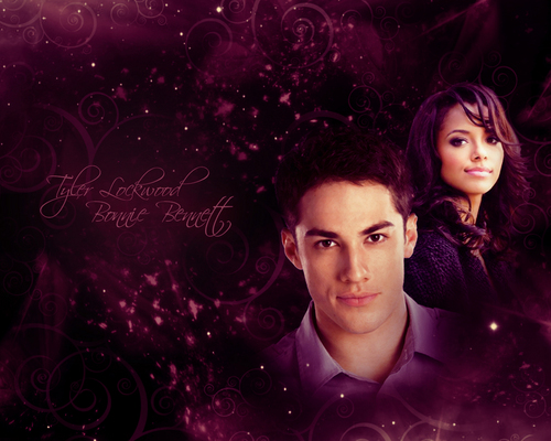 Tyler Lockwood & Bonnie Bennett wallpaper titled Tyler and Bonnie