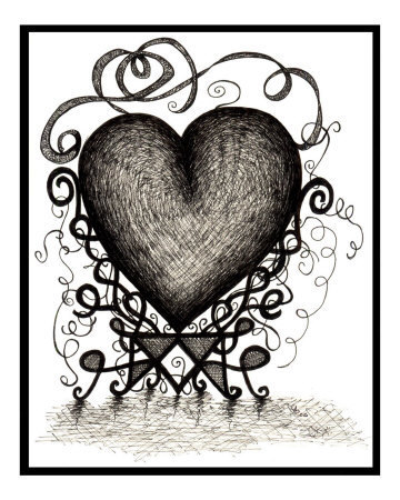 gothic heart love