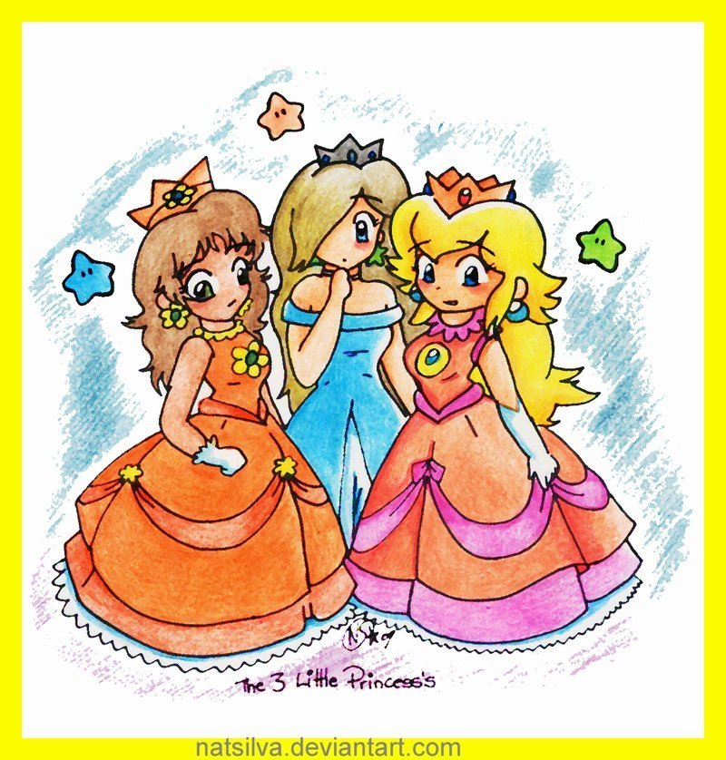 princess peach and daisy together. onepeach is princess daisy
