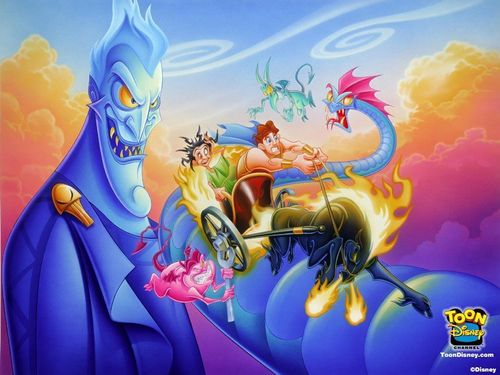 disney Prince wallpaper entitled hercules chariot