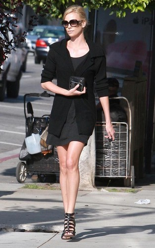 Charlize out in Beverly Hills