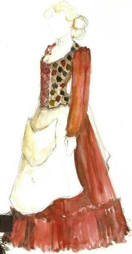 Costume Sketch - Lamia