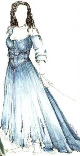 Costume Sketch - Una