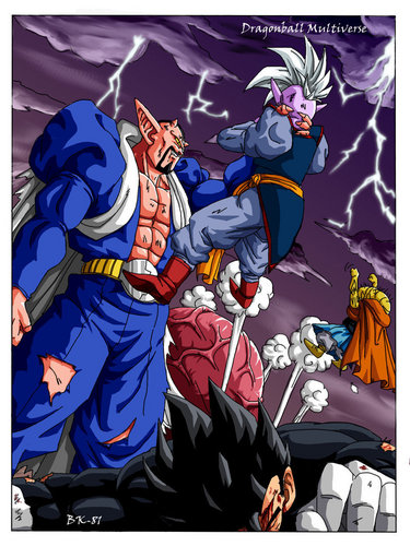 Dragon Ball Z wallpaper called Dabura vs Gohan and Supreme Kai