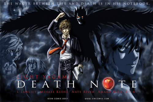 Death Note poster - death-note Fan Art
