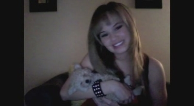 Debby Ryan With Her Dog