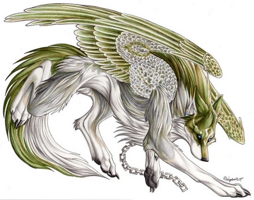 Wolves images Elemental Wolves wallpaper and background ... Anime Fire Wolves With Wings