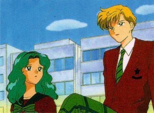 Sailor Uranus and Sailor Neptune karatasi la kupamba ukuta titled Haruka und Michiru