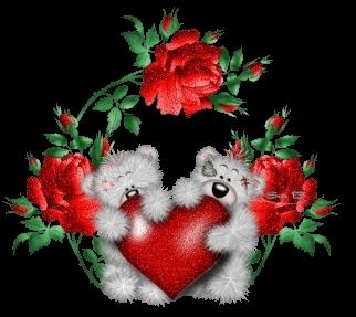 Hearts and गुलाब
