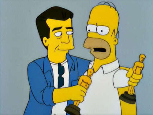 Homer and Mel Gibson