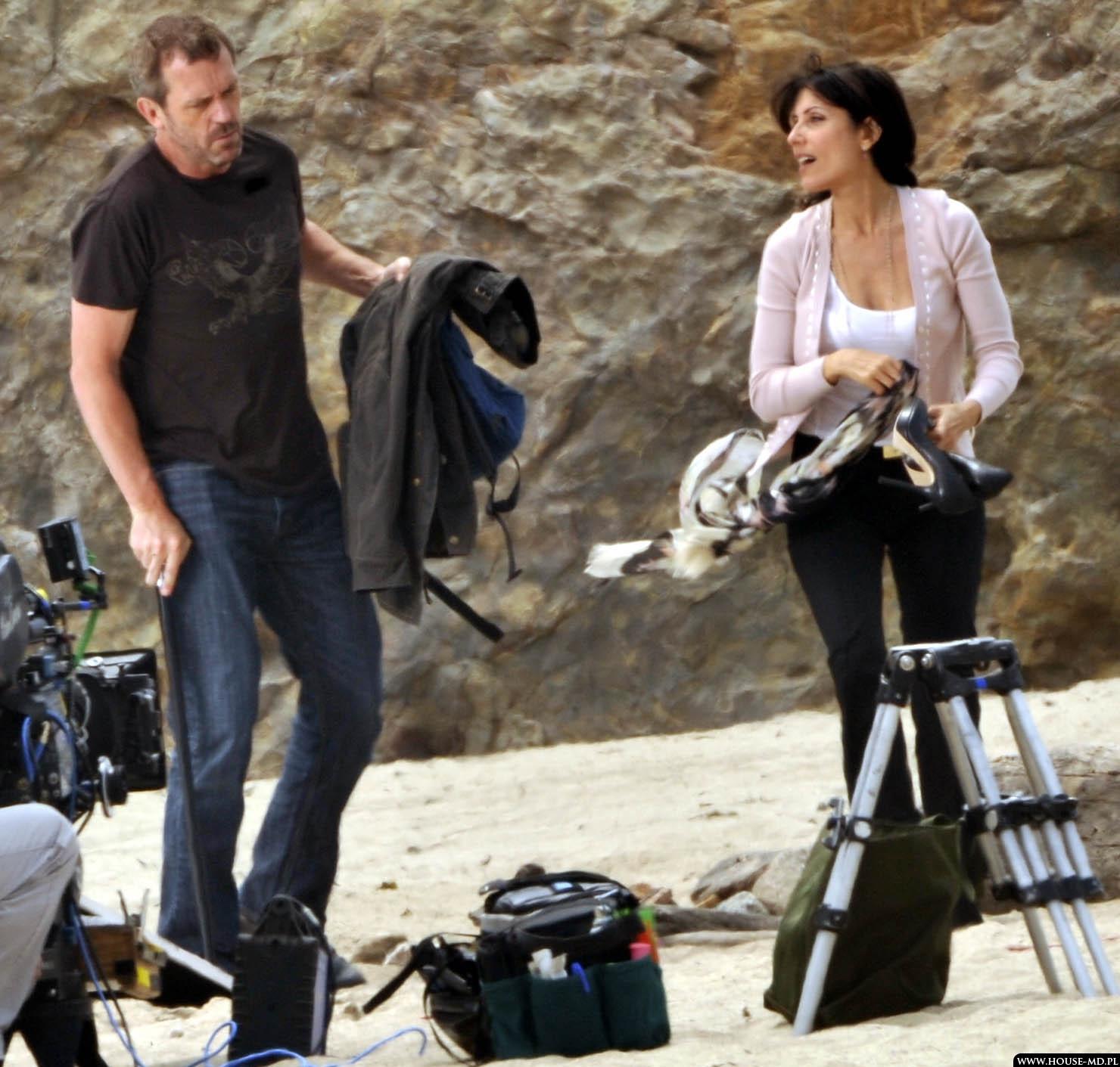 Hugh & Lisa on set HQ