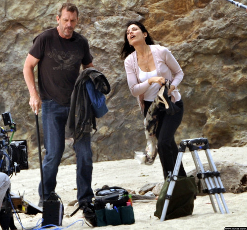 Hugh & Lisa on set HQ