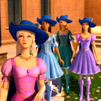 Barbie and the Three Musketeers Cartoon