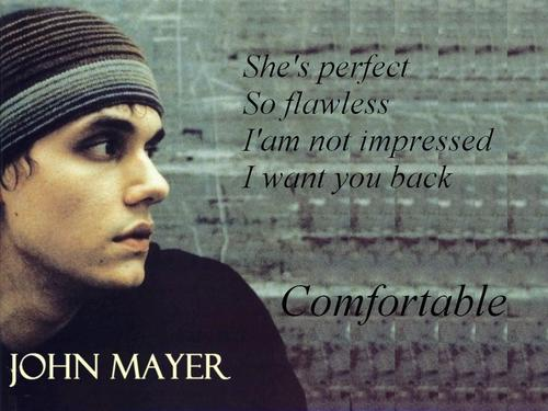 John Mayer Comfortable - john-mayer Wallpaper