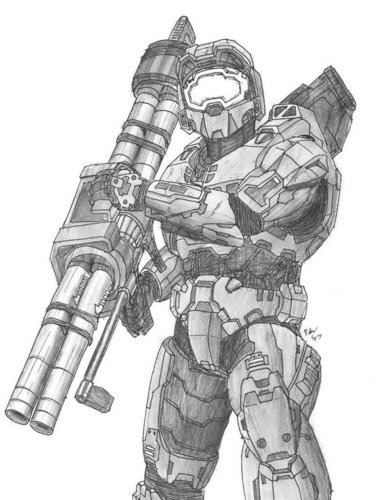 MASTER CHIEF(with pencil)