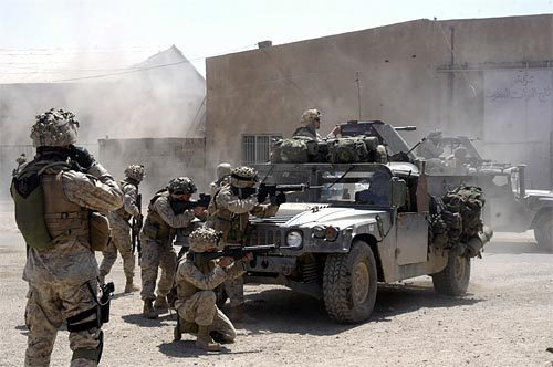 Marines Engage Insurgents